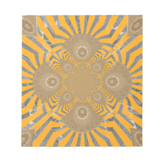 Lovely Edgy  amazing symmetrical pattern design Notepad