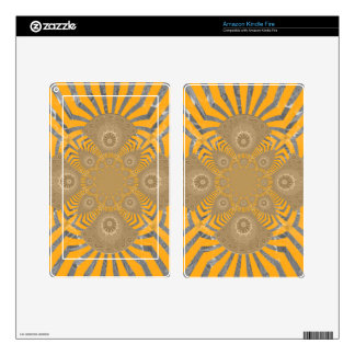 Lovely Edgy  amazing symmetrical pattern design Skin For Kindle Fire