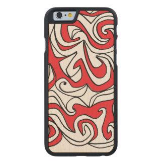 Lovely Effervescent Refreshing Polite Carved Maple iPhone 6 Case