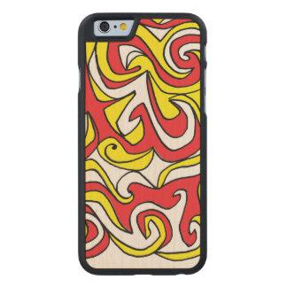 Lovely Effervescent Refreshing Polite Carved Maple iPhone 6 Slim Case