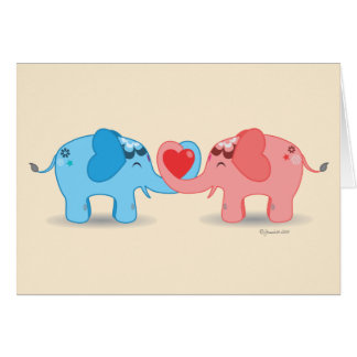 Lovely Elephants Greeting Card