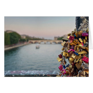 Lovely Evening Sky in Paris with Love Locks Cards