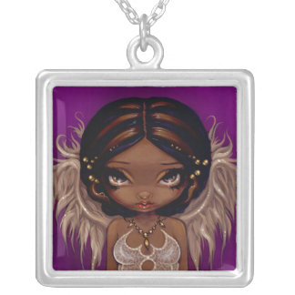 Lovely Eyes NECKLACE angel fairy pendant