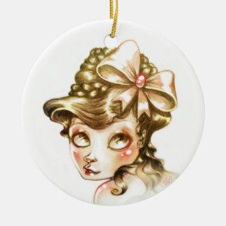 Lovely face ceramic ornament