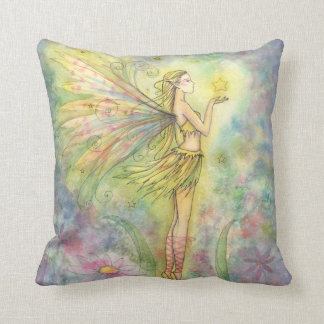 Lovely Faerie and Star Throw Pillow
