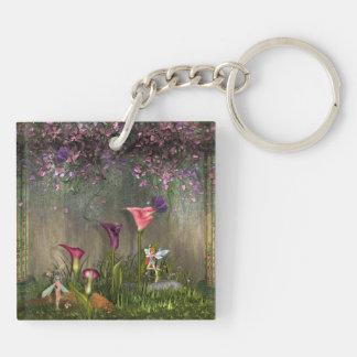 Lovely Fairy Garden Key Chain
