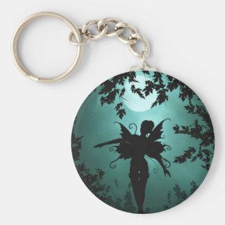 Lovely Fairy Siluetts Basic Round Button Keychain