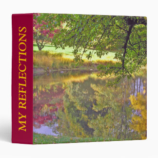 """LOVELY FALL COLORS REFLECTED IN POND"" BINDER"