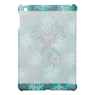 lovely falling snowflakes winter damask iPad mini covers