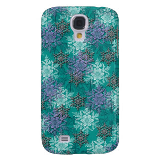 lovely falling snowflakes winter damask samsung s4 case
