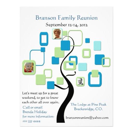 Lovely Family Reunion Flyer Letterhead