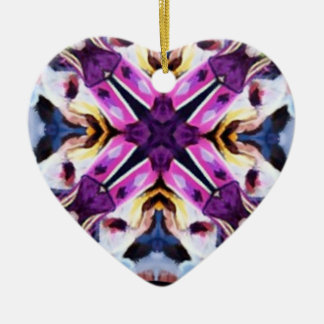 Lovely Feather Dancer Kaleidoscope Christmas Tree Ornament