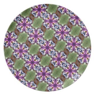 Lovely Feather Dancer Kaleidoscope Plate