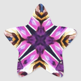 Lovely Feather Dancer Kaleidoscope Stickers