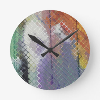 Lovely Fence Round Wall Clock
