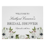 Lovely Floral Bridal Shower Sign