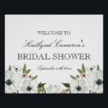 "Lovely Floral Bridal Shower Sign<br><div class=""desc"">20x16 Bridal Shower sign. Customizable. Part of a wedding and bridal shower collection</div>"