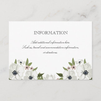 Lovely Floral Information Card
