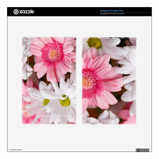 LOVELY FLORAL KINDLE FIRE DECAL
