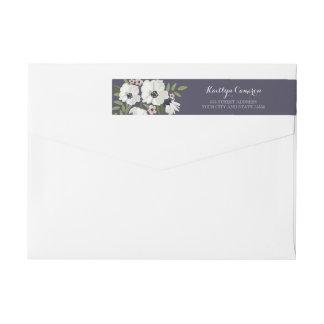 Lovely Floral Purple Return Address Label