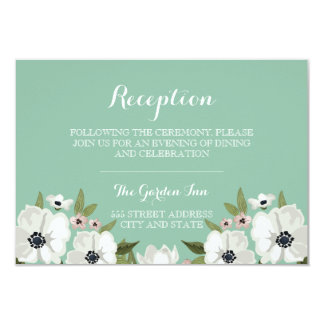 Lovely Floral Reception Card - mint
