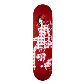 Lovely Floral Retro Polka Dot Fairy Skateboard