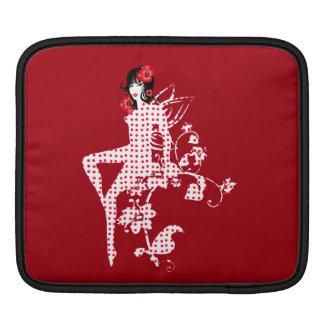 Lovely Floral Retro Polka Dot Fairy Sleeve For iPads