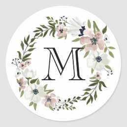 Lovely Floral Round Sticker