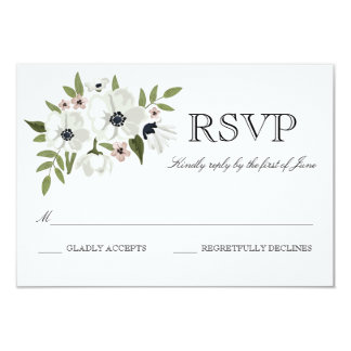 Lovely Floral RSVP Card