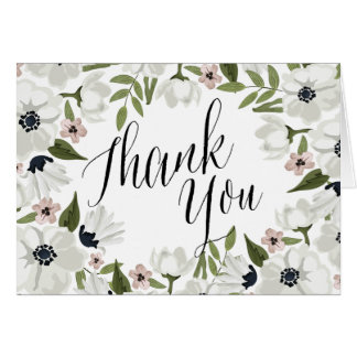 Lovely Floral Thank You Note Card