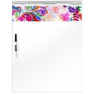 Lovely floral vector design dry erase board