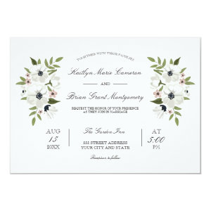 Lovely Floral Wedding Invitation
