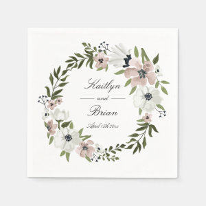 Lovely Floral Wedding Napkin