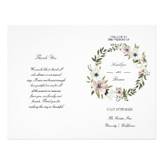 Lovely Floral - Wedding Program at Zazzle