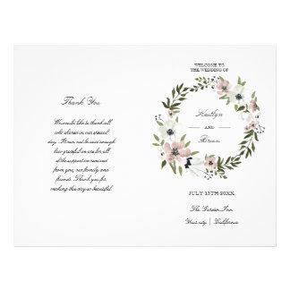 Lovely Floral - wedding program