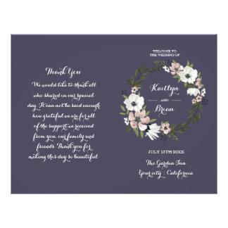 Lovely Floral - wedding program - purple