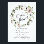 """Lovely Floral Wreath- Bridal Shower Invitation<br><div class=""""desc"""">5x7 Lovely Floral Wreath,  Bridal Shower Invitation. Customizable. Part of a wedding collection.</div>"""