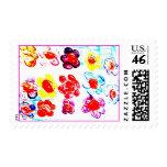 lovely flower power stamp