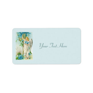 Lovely Forget Me Not Angel Address Label