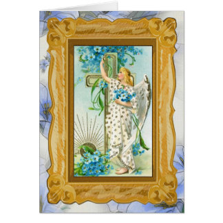 Lovely Forget Me Not Angel Greeting Card