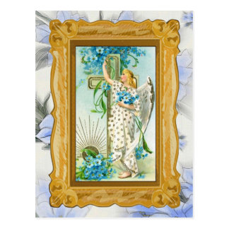 Lovely Forget Me Not Angel Postcard
