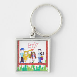 lovely friends keychain