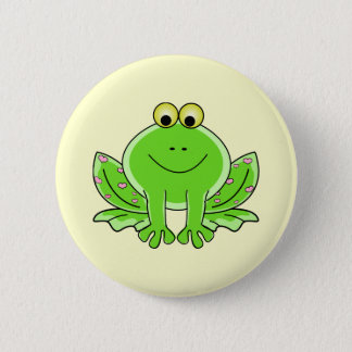 Lovely Frog Pinback Button