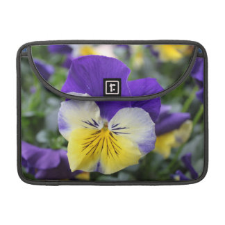 Lovely garden flower blue pansy MacBook pro sleeve