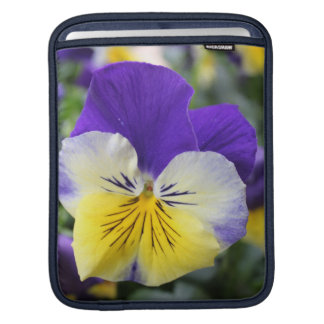 Lovely garden flower blue pansy sleeve for iPads