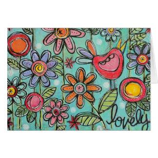 Lovely Garden Sweet Horizontal Card