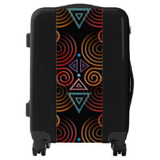 Lovely geometric Hearts pattern + your ideas Luggage