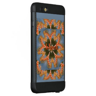 Lovely Giraffe Blank Monogram Text Pattern Design LifeProof NÜÜD iPhone 6 Plus Case