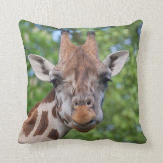 Lovely Giraffe Portrait Throw Pillow