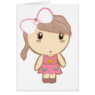 lovely girl card